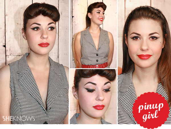 Halloween pinup girl makeup tutorial