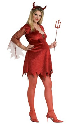 Devil maternity Halloween costume