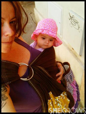 Claire's babywearing photo