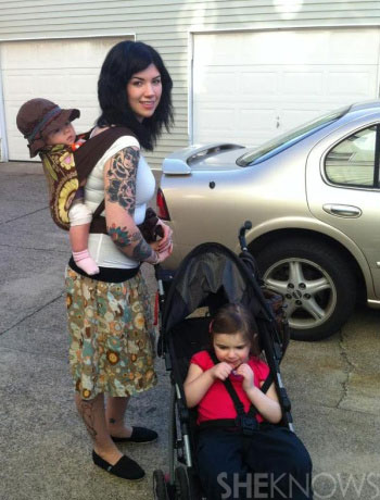 Kelly's babywearing photo