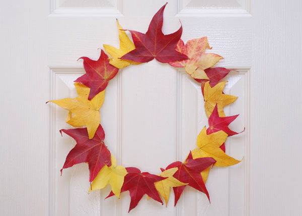 DIY Thanksgiving wreath for kids