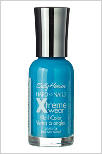 Sally Hansen blue nail polish in Blue Me Away