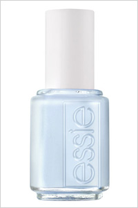 Essie blue nail polish in Borrowed & Blue