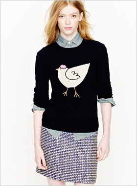 little French hen sweater