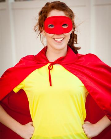 Teen in Halloween costume