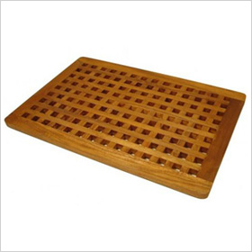 Teak Grate Shower Floor