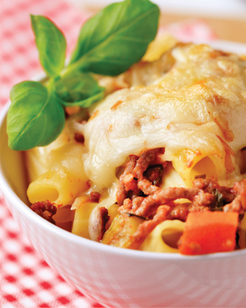 Turkey bolognese casserole