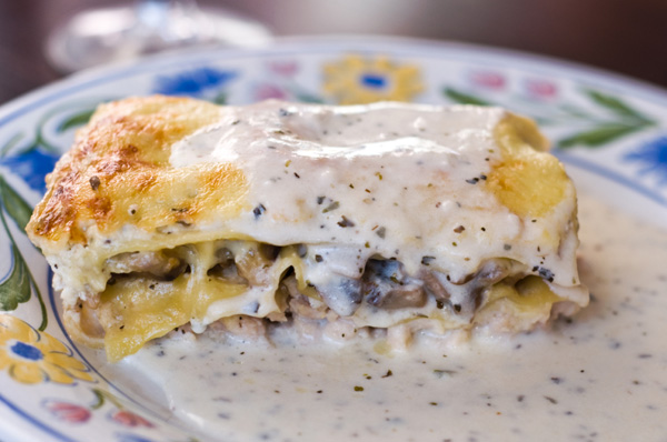 Wild Mushroom Lasagna Bolognese