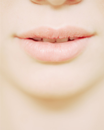Woman with soft lips