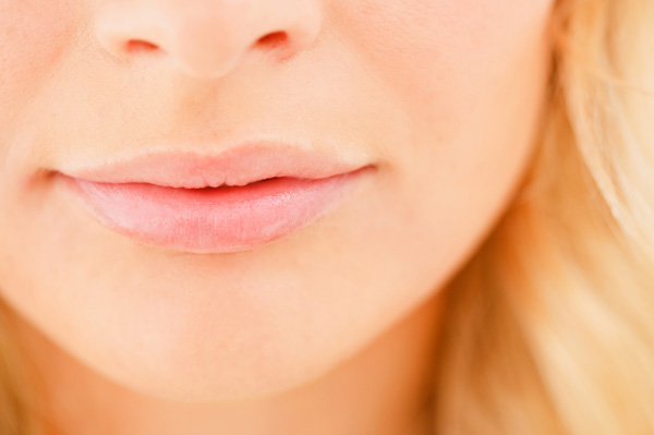 Woman with healthy lips