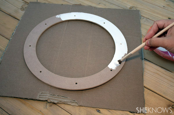 DIY 12 days wreath step 1