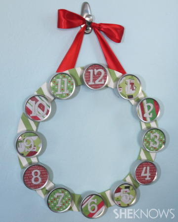 12 days of Christmas wreath
