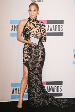 Jennifer Lopez at the 2011 American Music Awards