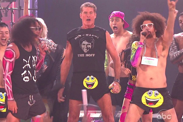 LMFAO at the 2011 American Music Awards