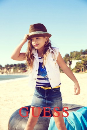 She's featured in GUESS Kids ad