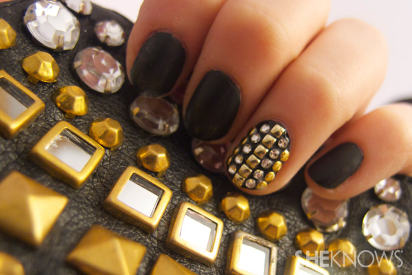 studded nail art tutorial