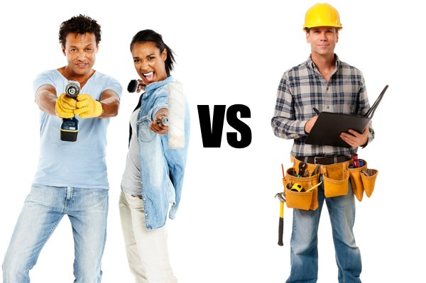 Diy couple vs hired help contractor