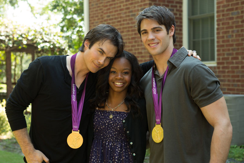 Gabby Douglas guest stars on The Vampire Diaries