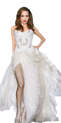 Angelina Jolie in Atelier Versace wedding dress?