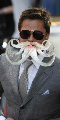 Brad Pitt with octo-beard