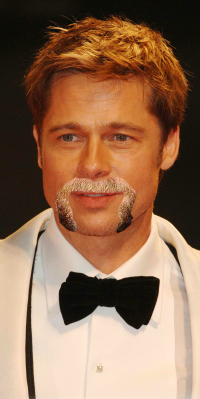 Brad Pitt with Fu Manchu