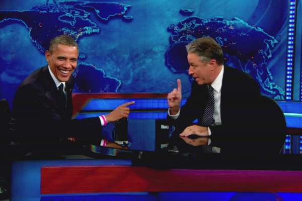 President Obama and Jon Stewart on The Daily Show