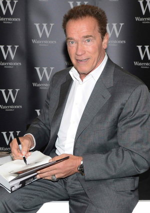 Arnold Schwarzenegger at Book Signing