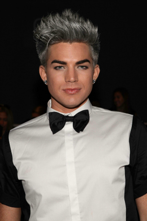 Adam Lambert at Mercedes Benz Fashion Week