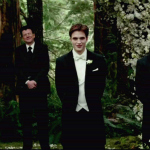 Robert Pattinson as Edward Cullen in Breaking Dawn Wedding Scene