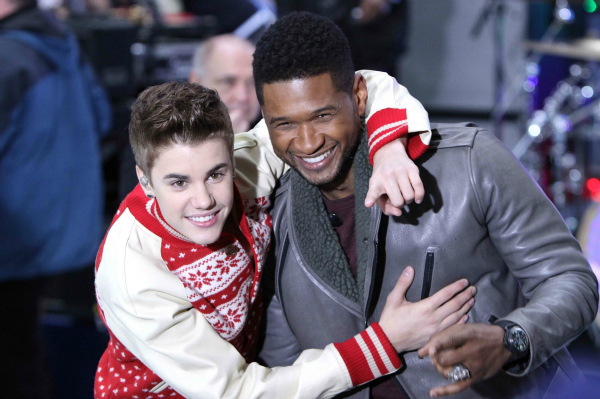 Justin Bieber and Usher on the Today Show