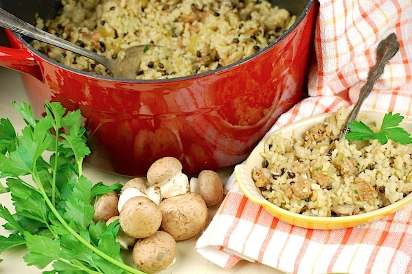 Wild rice and sausage stuffing