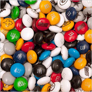 NFL team M&M'S candies