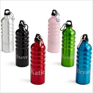 Personalized aluminum sports bottle