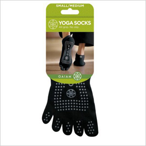Gaiam gripping nonslip yoga socks