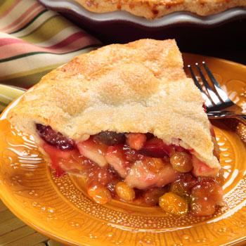 Autumn fruit salad pie