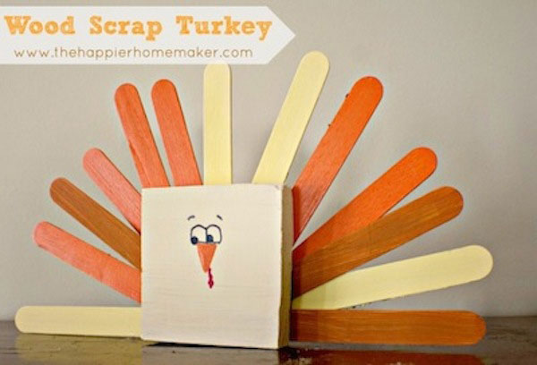 Kid-friendly Turkey day table decorations