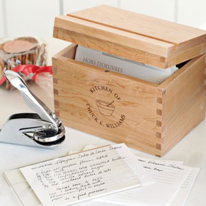 Personalized recipe gift set