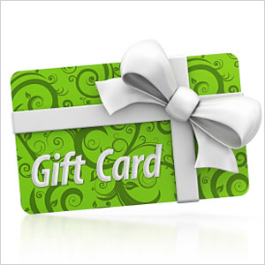 Gift certificate to online savings