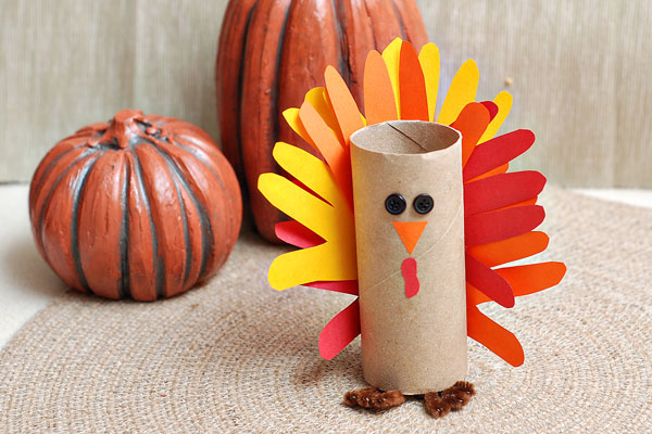 Paper tube turkey craft