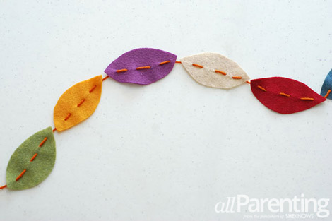 Fall leave garland step 6