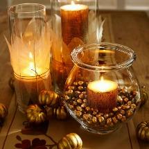 Gold gilt acorn vases