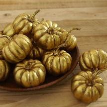 Shiny gold pumpkins