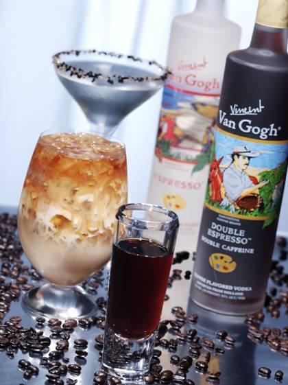 Creamy espresso vodka cocktails