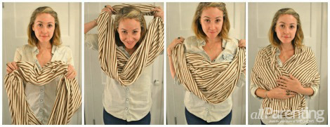 CIRCLE SCARF WRAP STYLE