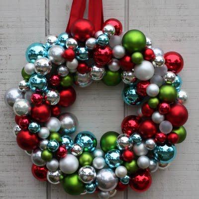 Original ornament wreath inspiration