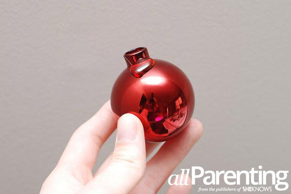 Christmas ornament wreath step 2