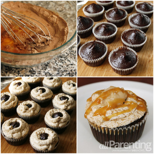 Salted Caramel Mocha Cupcakes collage