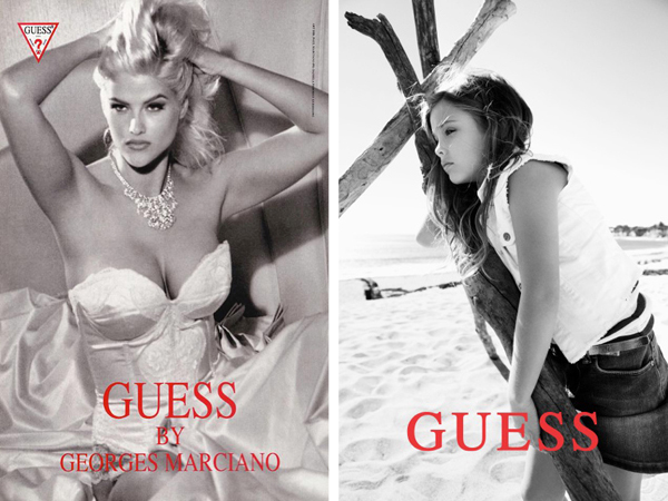 Anna Nicole Smith and Dannielyn Birkhead's Guess ads