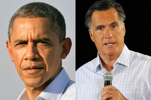 Barack Obama and Mitt Romney election is Nov 6