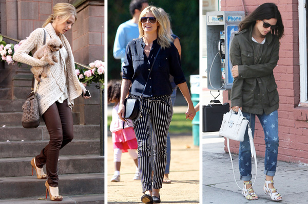 Celebrities wearing denim